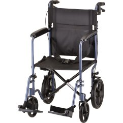 Nova Transport Chair Non Rolling Office 20 Inch Lightweight With Hand