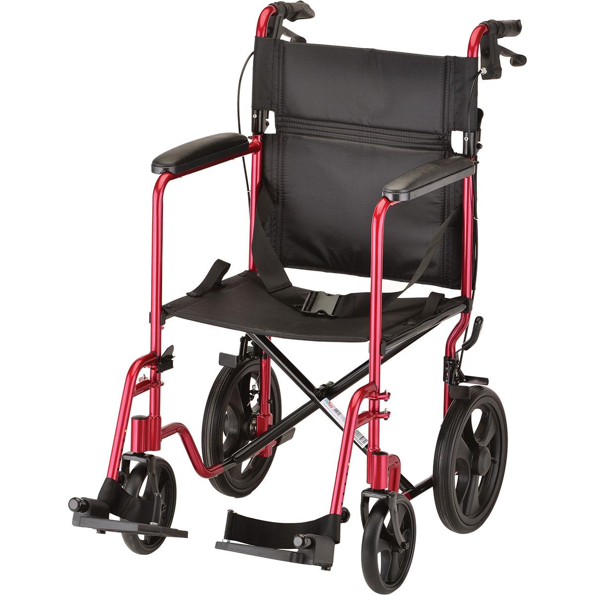 Nova Transport Chair  20 inch  Lightweight with Hand