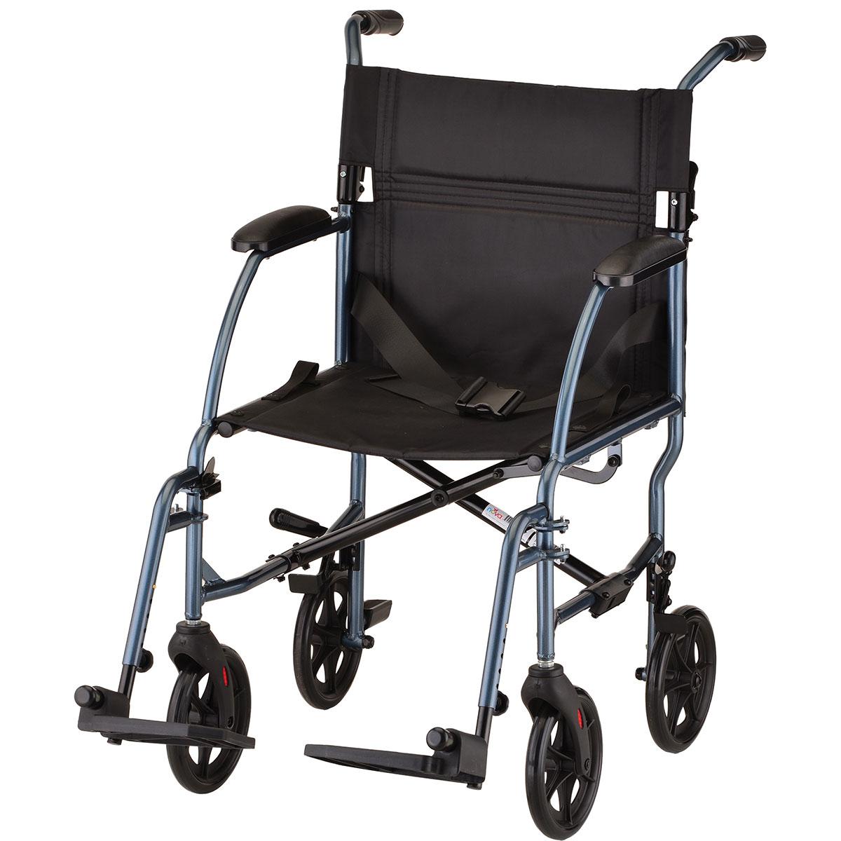 nova transport chair brown recliner lightweight 19 quot blue carnegie