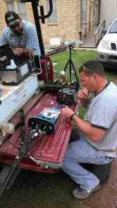 Splicing fiber optic cable in a Coyote One closure in Carnegie Oklahoma