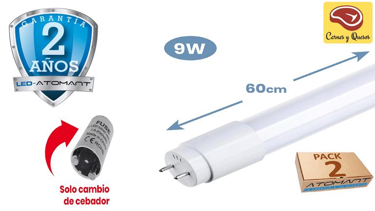 iluminación para carnicerías y charcuterías con tubos LED