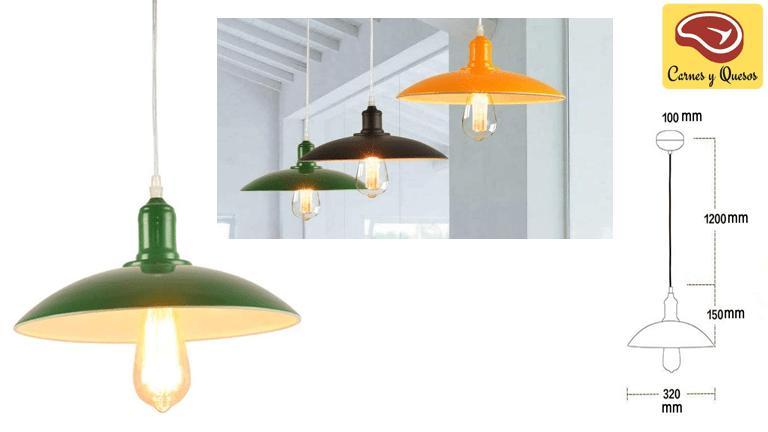 Lámpara de iluminación para charcuterías de estilo retro