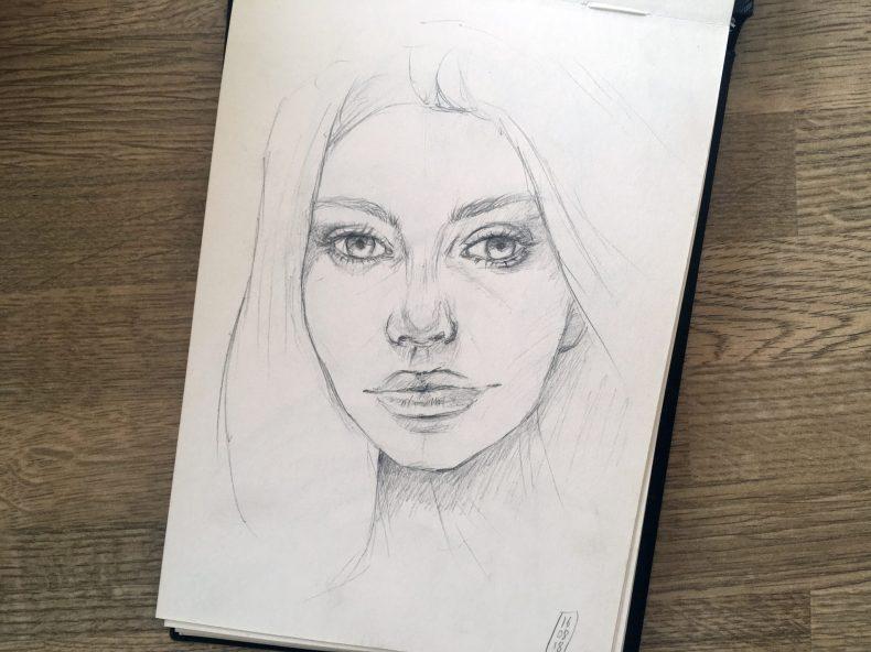 Comment Dessiner Un Portrait De Face Partie 2