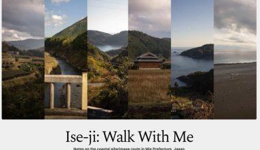 Image d'entête du livre Ise-Ji Walk with Me avec des images de paysage