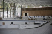 Chantier piscine - damiers