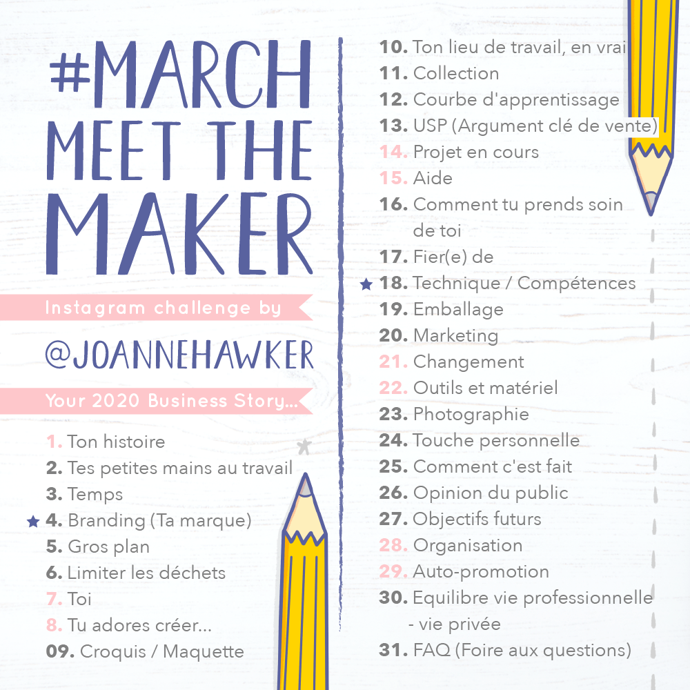 Liste des thèmes pour March Meet the Maker 2020