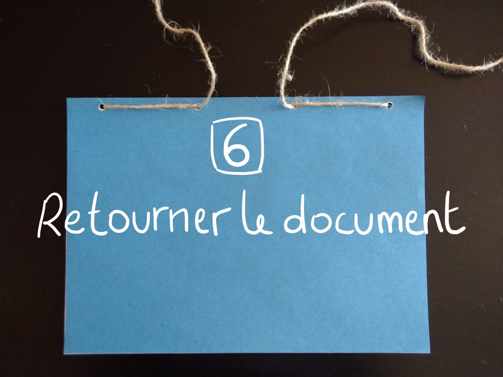 Retourner le document
