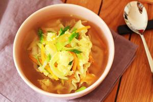 soupe de raviolis coréens