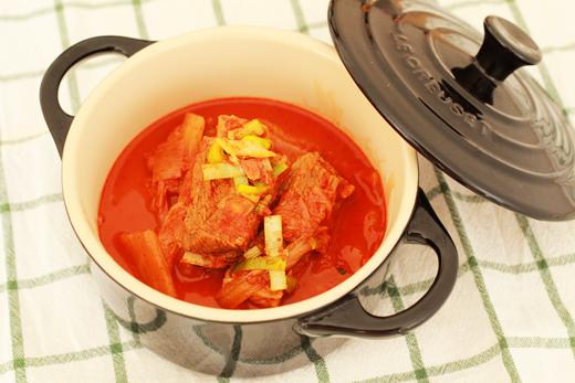 Cuisine coréenne: Deung galbi kimchijjim