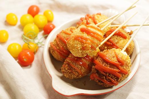 street food coréen: hot dog