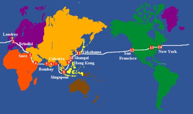 Le tour du monde en 80 jours Carnet de bord de la
