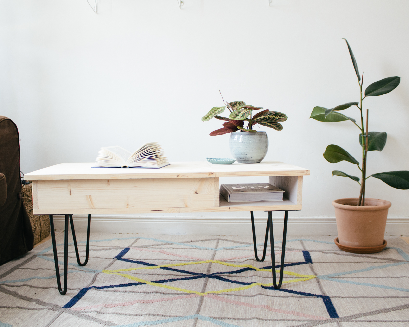 diy la table basse ses hairpin legs sans clou ni vis