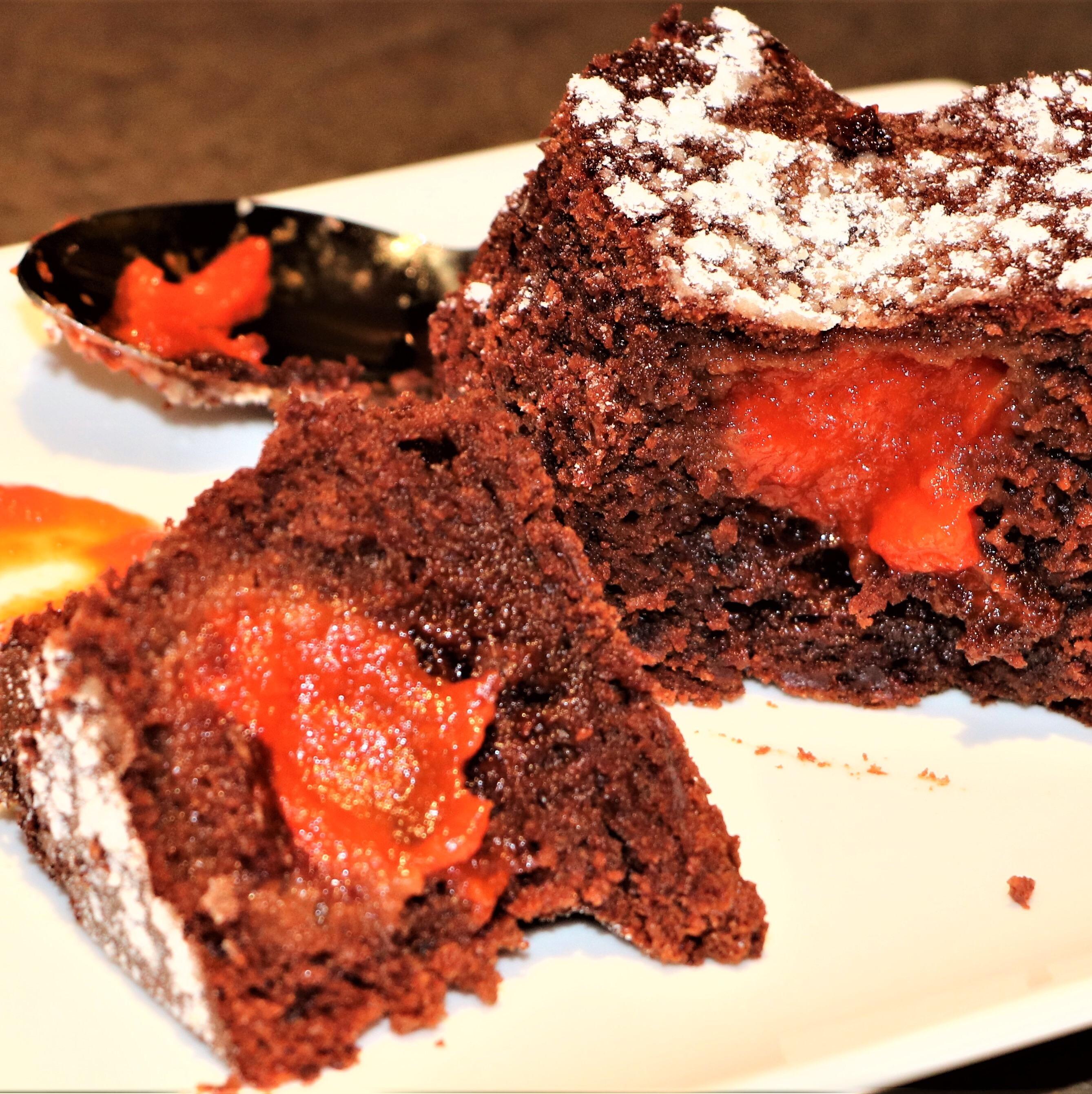 Coeur Chocolat, Surprise au Poivron rouge & Piment d'Espelette