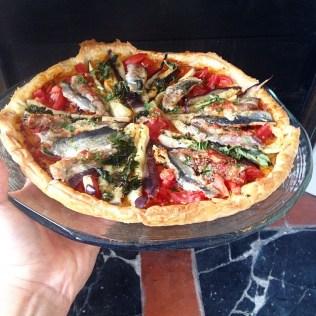 Tarte aubergines et sardines marinées au curry rouge et citron vert http://wp.me/p389oa-1jK