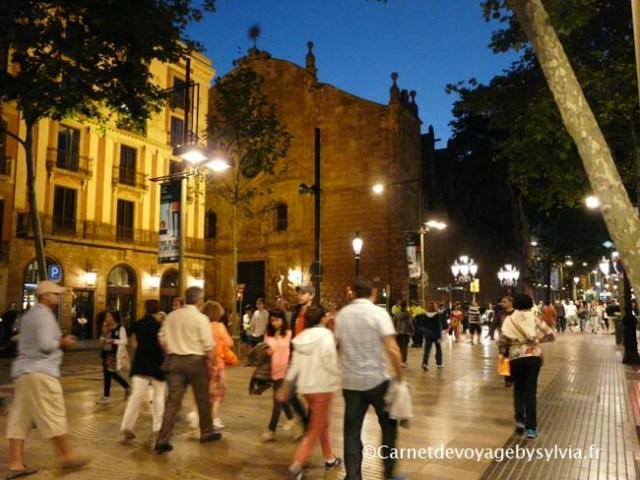 la Rambla Barcelone