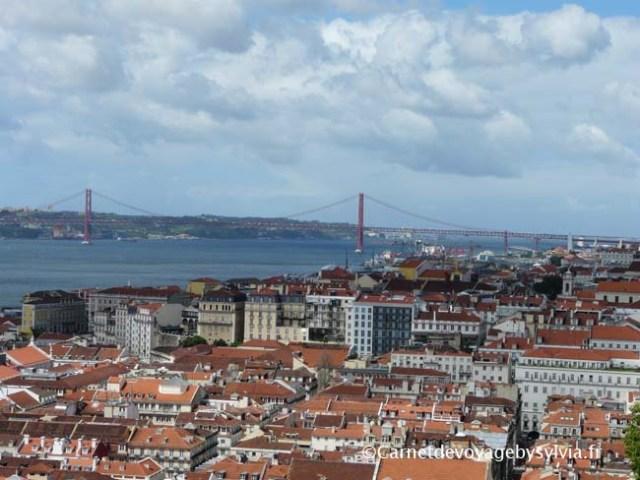 vue depuis le Castelo de São Jorge