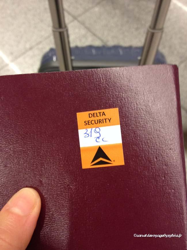 dos de passeport