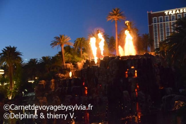 animations Las Vegas - volcan hôtel Mirage