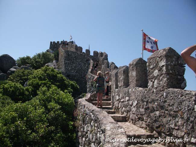 Les remparts du Château des Maures à Sintra