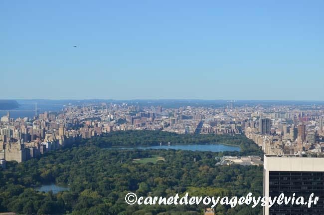 Visiter Top of the Rock - vue sur Central Park - New York City