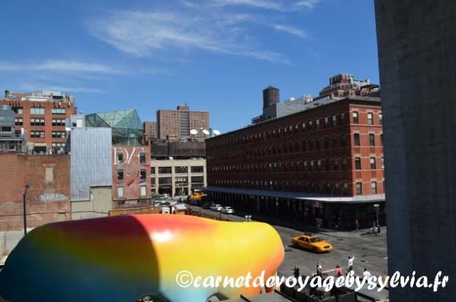 évènement en bas de la High Line