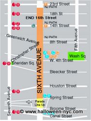 plan de la parade