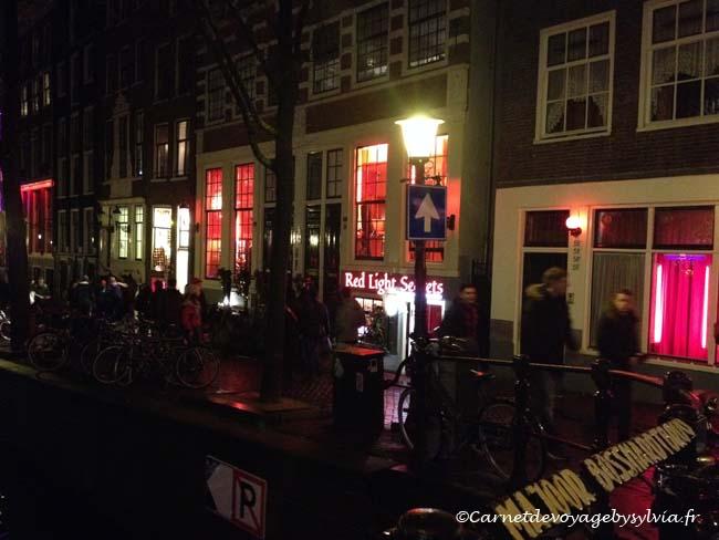 voyage à Amsterdam - red light district