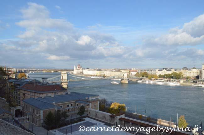 vue depuis les remparts Buda Castle