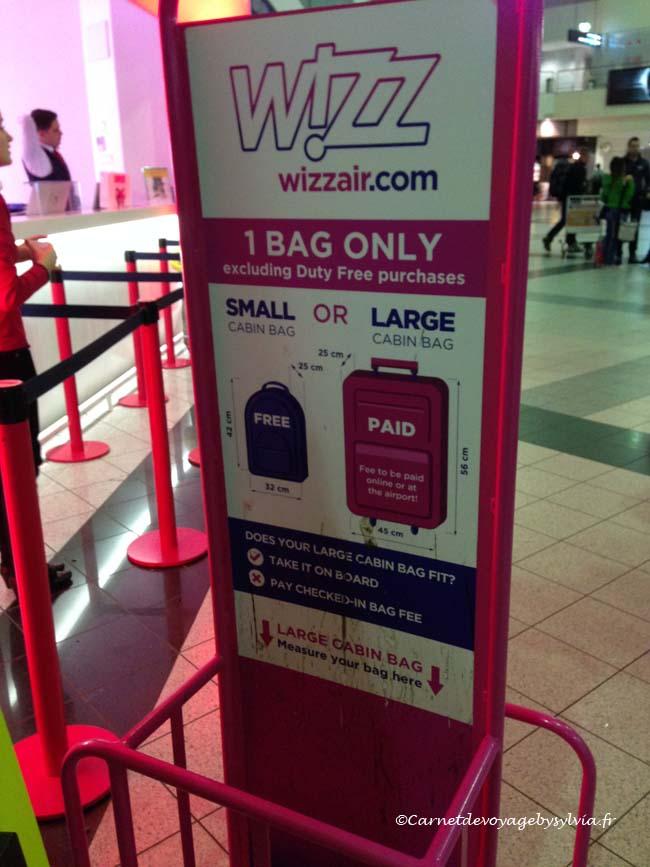 bagage à main wizz