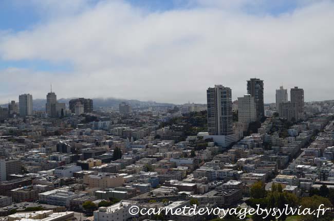 San Francisco vue depuis la Coït Tower : Financial District
