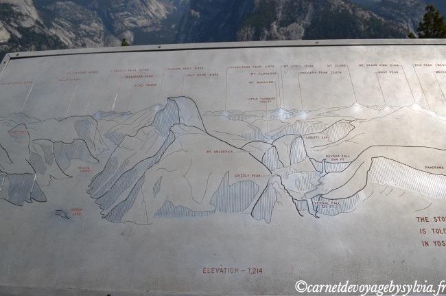 Plan de la vallée de Yosemite