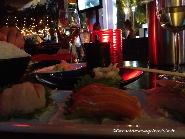 manger des sushis à Las Vegas
