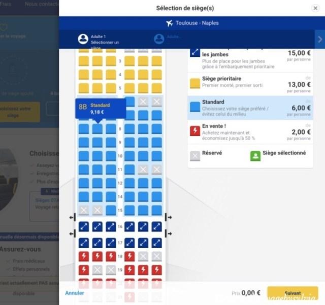 choisir un siège sur Ryanair