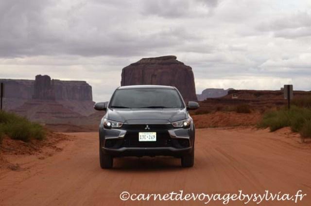 Monument Valley en voiture