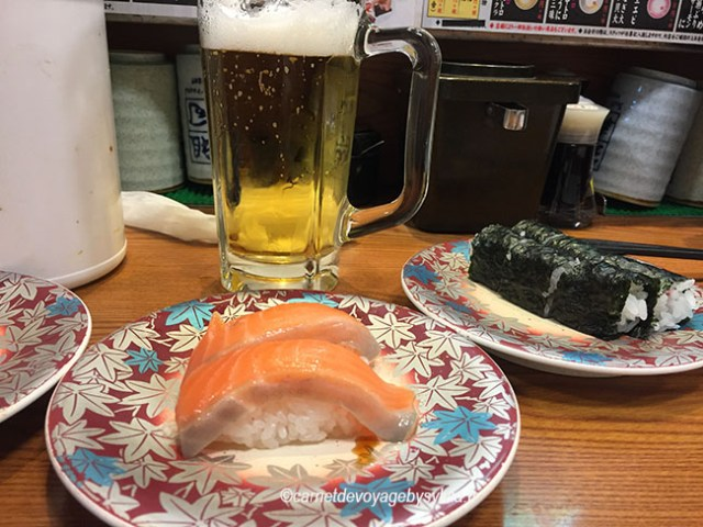 Nos premiers sushis à Shinjuku