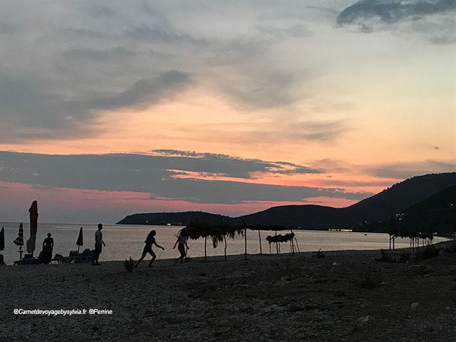 Albanie coucher de soleil