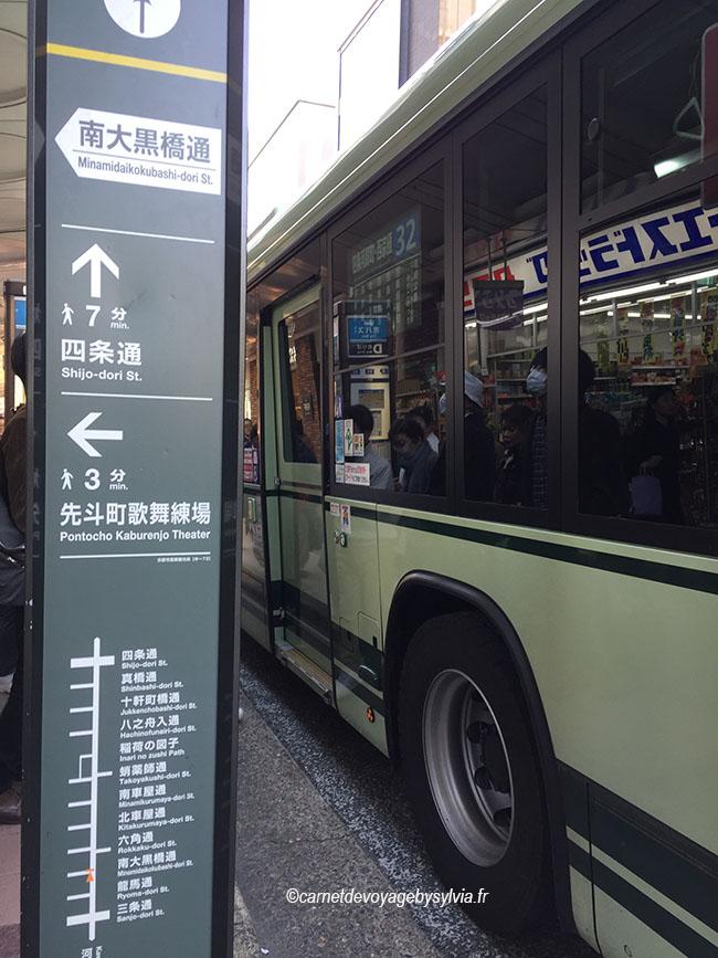 Arrêt de Bus à Kyoto