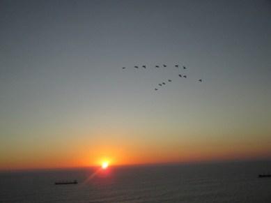 coucher de soleil au sommet du morro Arica
