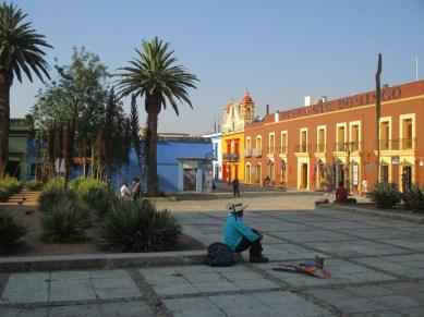 Le parvis de la cathédrale Oaxaca