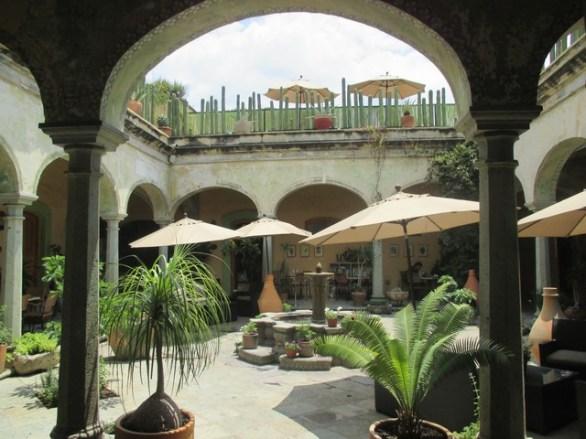 Le patio de notre hôtel Oaxaca