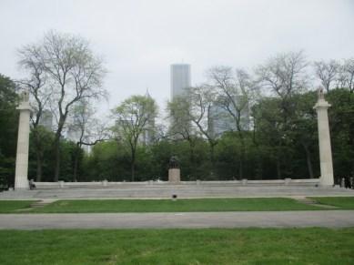 Millénium Park et Statue de Lincoln Chicago