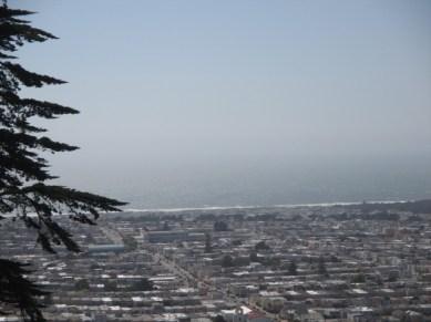 la plage de San Francisco depuis Grand View Park