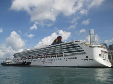 bateau baie de Hong Kong