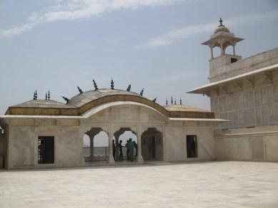 Bâtiments de marbre blanc Fort Agra