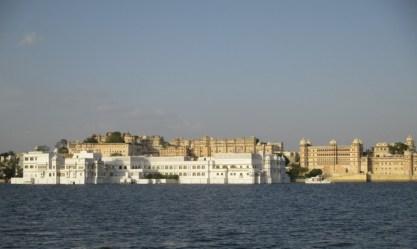 Vue sur Taj Lake Palace et City Palace Udaipur