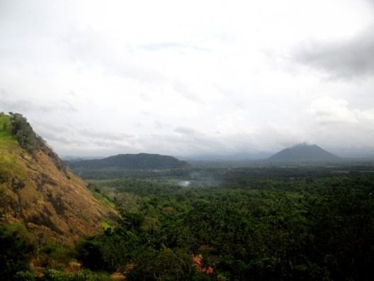vue sur vallée depuis Rock temple