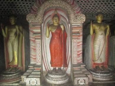 Statues Rock temple