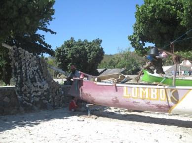 bateau plage Selong Blanak