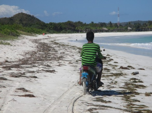 moto plage A'an Lombok
