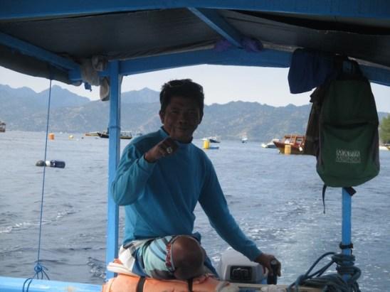 Ari pilote bateau Gili